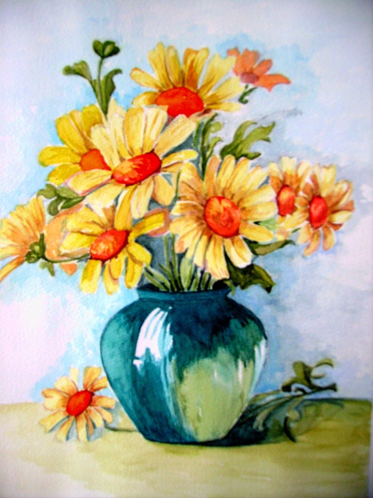 Dipinti dipingendo part 2 for Immagini di fiori dipinti